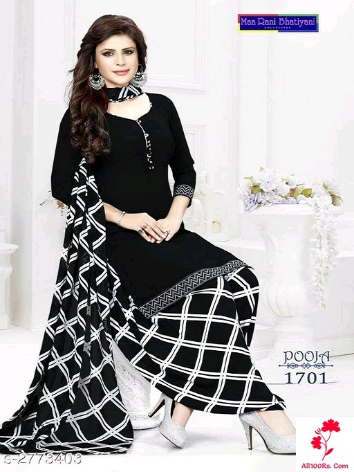 Ethnic Crepe Suits & Dress Materials