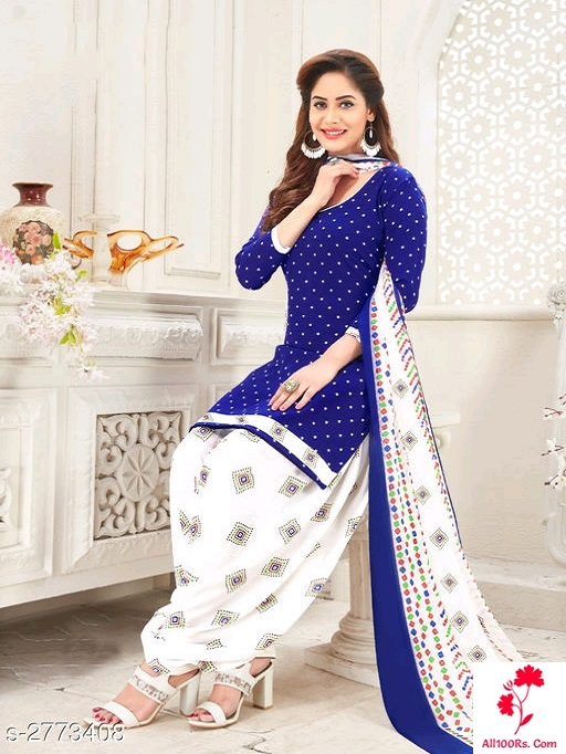 Ethnic Crepe Suits Chudidhar Materials