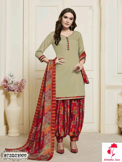 Trendy Cotton Satin Women's Suits and Chudidhar Materials