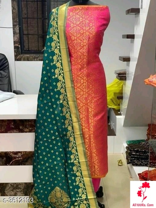 Elegant Banarasi Silk Women's  Suits & Dress Materials