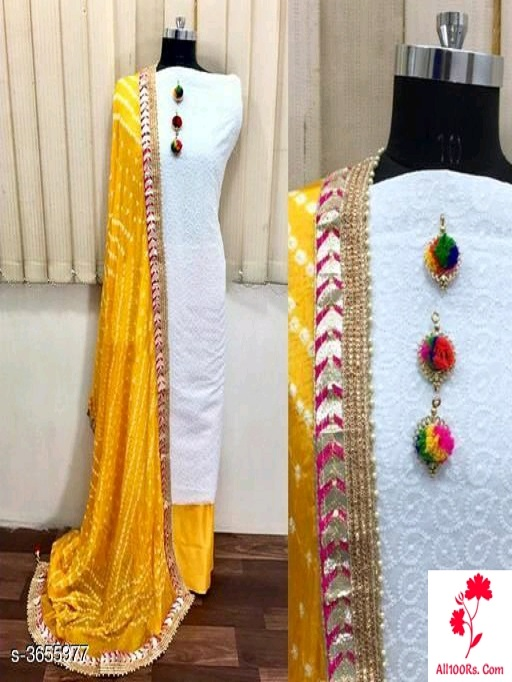 Elegant Gorgeous Cotton Suits & Dress Materials