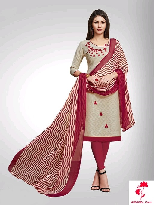 Elite Trendy Poly Cotton Womens Chudidhar Materials