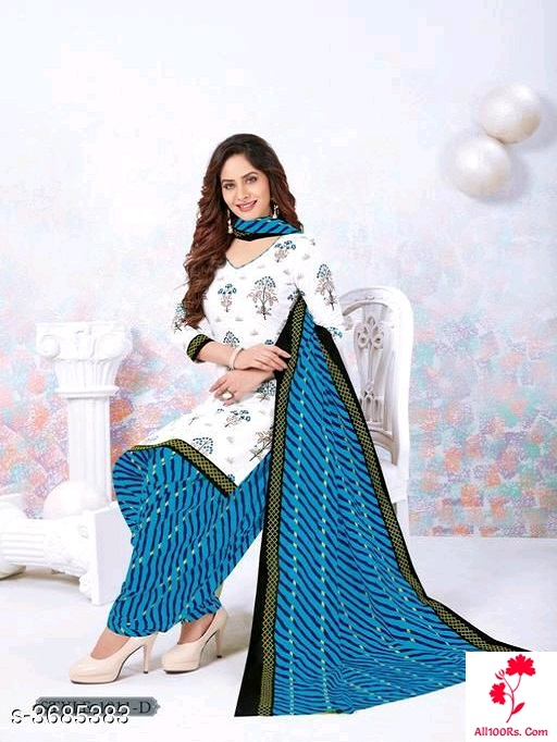 Stylish Women's Pure Cotton Suits & Dress Materials