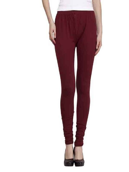 Maroon Trendy Leggings