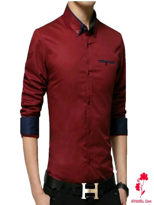 Cotton Solid Regular Fit Full Sleeves Shirt