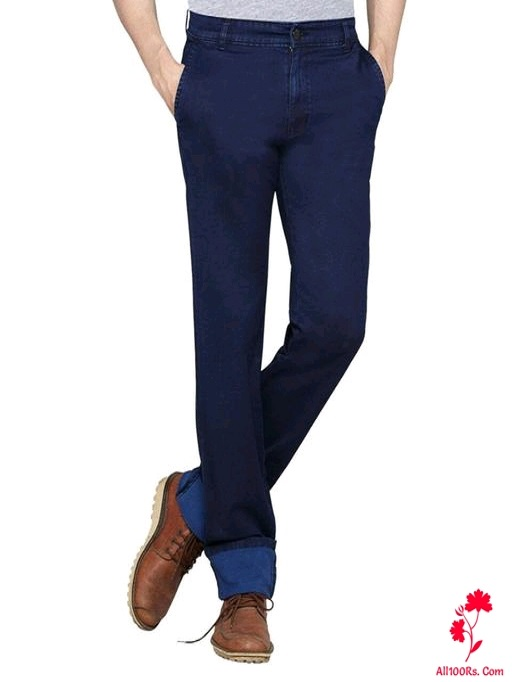 Men's Elegant Solid Denim Jeans