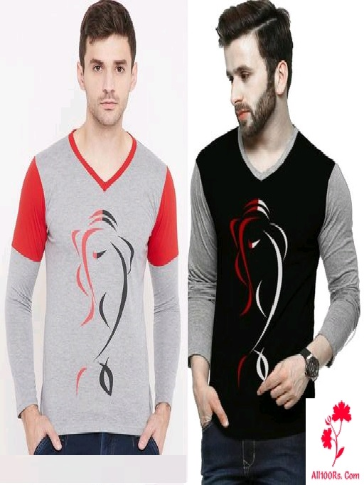 Trendy Combo Men's  Cotton Fancy T-Shirts