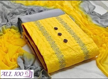 Women's Polycotton Dress Material With Dupatta