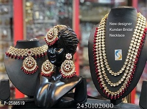 Red Beads Alloy Jewelry Set