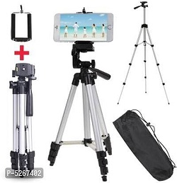 Smart Aluminium Adjustable Portable and Foldable Tripod Stand Clip and Camera Holder