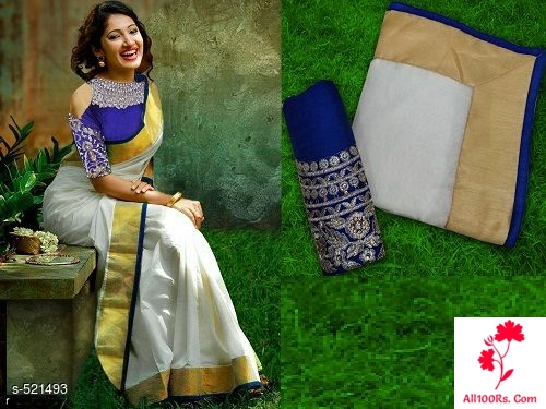 Rich Work Chanderi Cotton Saree