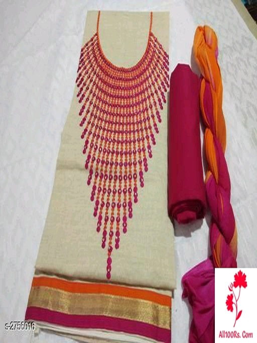 Trendy Pure Jute Khadi Women's Suits & Dress Materials