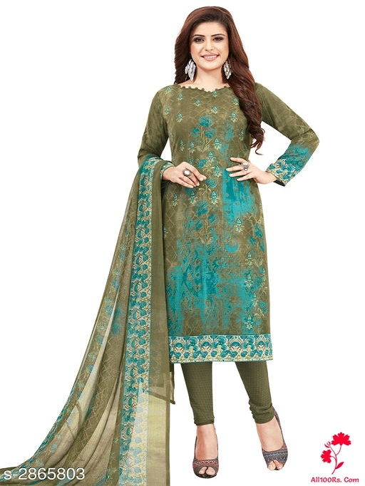 Elite Trendy Crepe Women's Suits & Dress Materials