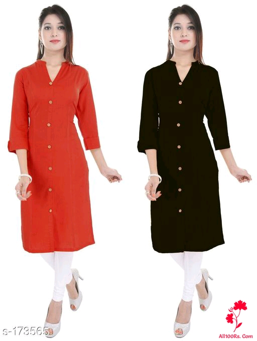 Ladies Solid Colored Kurtis Combo 5
