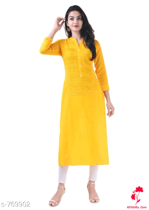 Attractive Designer Cotton Kurtis