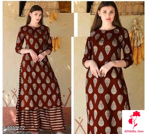 Jivika Attractive Pretty Rayon Printed Kurtis