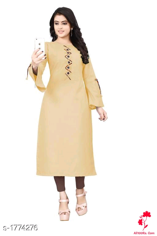 Alice Trendy Cotton Slub Women's Kurtis