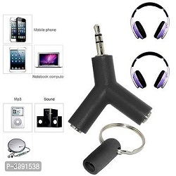 U.S.Traders Y Shape  Stereo Jack Audio Headset Connector Adapter Compatible
