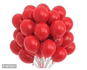 Vibrant Color Combo Pack of 50 Balloons - Red Balloons Combo