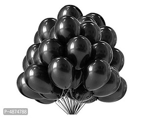 Vibrant color Combo Pack of 50 Balloons - Black Balloons Combo