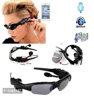 Smart Glasses Bluetooth Headset & Music Player With SunGlasses (Black)
