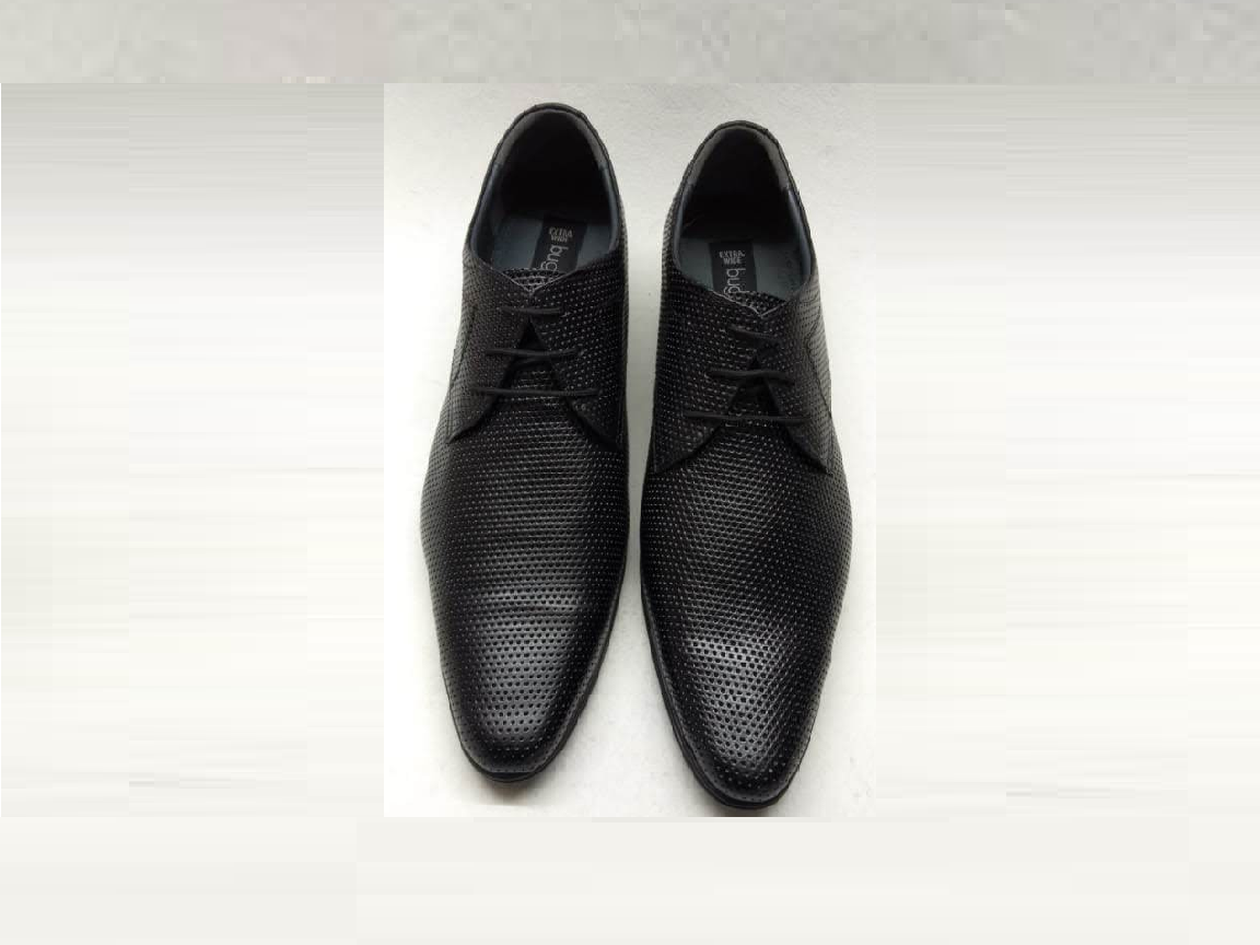 Spotted Black Trendy Leather Shoe with Free Belt