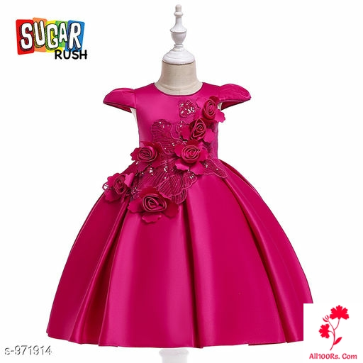Nora Dark Pink Little Princess Dress