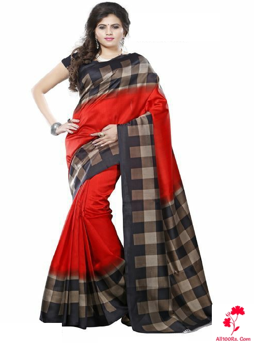 Stylish Mysore Silk Printed Sarees